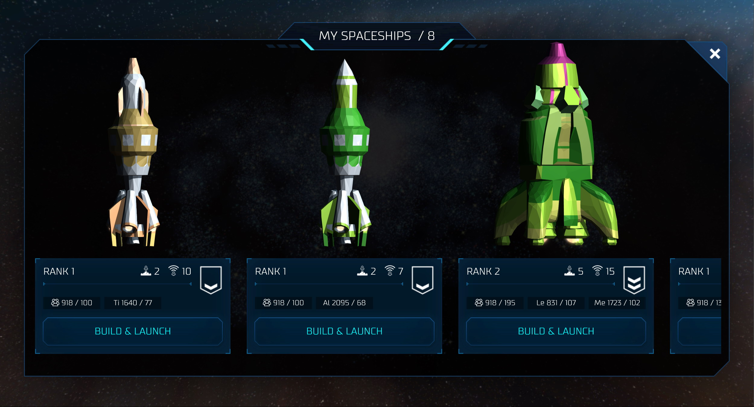 0xUniverse Screenshot Spaceships